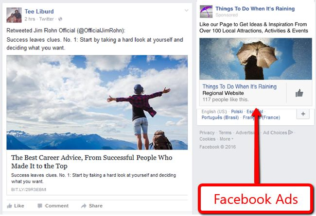 Facebook Ads Example
